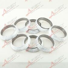 "2.5"" HEADER/MANIFOLD/DOWNPIPE EXHAUST FLANGE WELD-ON GRAPHITE DONUT GASKET 8PCS"