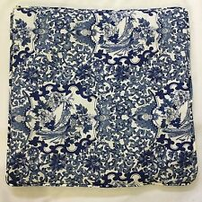 RALPH LAUREN Porcelain Tamarind Blue Toile THROW PILLOW Matches duvet 18 x18""