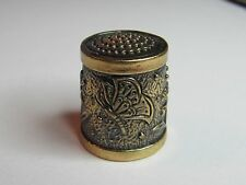 BUTTERFLY, DRAGONFLY & FLOWERS DESIGN BRASS/BRONZE  RUSSIAN THIMBLE - NEW