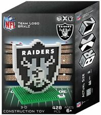 Oakland Raiders BRXLZ Team Logo 3-D Puzzle Construction Toy New - 428 Pieces