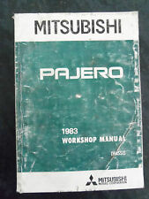 MITSUBISHI PAJERO  FACTORY WORKSHOP CHASSIS  MANUAL 1983