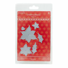 Dovecraft Cutting Die - Poinsettia & Holly - Christmas - CRAFT CLEARANCE