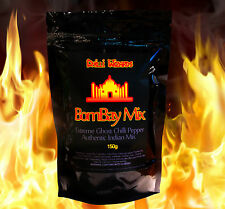 GHOST PEPPER 4 x Bombay MIX. molto HOT CHILLI misti snack. made with Naga Jolokia
