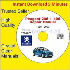 Peugeot 206 + 406 Workshop Service Repair Manual Engine Body Coupe