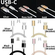 3 Kinds of HIGH SPEED Magnetic Adapter Micro USB Type-C Charger Charging Cable