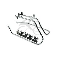 Chrome Saddlebag Saddle bag Conversion Bracket For Harley Heritage Softail 84-13