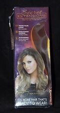Secret Extensions 06  Medium Red Brown Hair Extensions HeadBand Daisy Fuentes