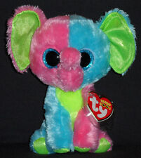 TY BEANIE BOOS - ELFIE the ELEPHANT (JUSTICE EXCLUSIVE) - MINT with MINT TAGS