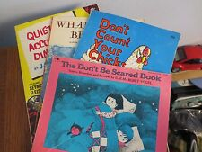 4 VINTAGE SOFT COVER CHILDREN'S BOOKS DON'T COUNT YOUR CHICKENS AND MORE
