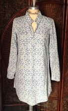 Lucky Brand shirt dress Medium blue white native american free people anthropolo