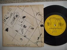 "MATERIALSCHLACHT Kinderfreundlich 7"" GERMANY 1979 rare MINIMAL SYNTH"