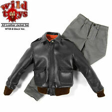 1:6 scale WILD TOYS A2 Leather Jacket Set WT09B Black Ver IN STOCK