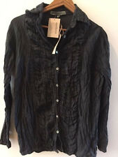 SUNDANCE CATALOG by JP Mattie APPELLATIONS RUCHED Blouse LARGE Orig $128 NWT!!