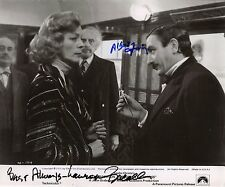 Hand Signed 8x10 Original photo FINNEY & BACALL Murder Orient Express + my COA
