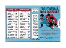 1984 Pro Football sliding Weekly Schedule!