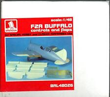 Brengun Models 1/48 BREWSTER F2A BUFFALO CONTROLS AND FLAPS SET Resin & PE Set