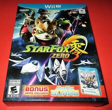 Star Fox Zero Nintendo Wii U w/ Bonus Game: Star Fox Guard! New! Free Ship!