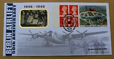 BERLIN AIRLIFT LABEL 1999 BENHAM FDC SIGNED BY AIR MARSHAL SIR JOHN CURTISS