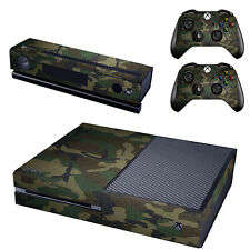 Camouflage Vinyl Decal Skin Stickers for Xbox One Console & 2 Controller Kinect