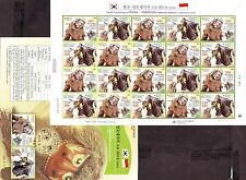 Korea - Lion and Bull Mask dance (Joint issued Indonesia) sheet 2013