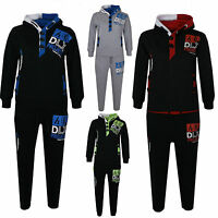 KIDS BOYS TRACKSUIT DLX PROJECT NEW GENERATION HOODIE BOTTOM JOGGERS 2-13 YEARS