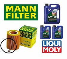 BMW E36 E39 E46 328i 330i X5 Mann Oil Filter & 7 Liters Engine Oil Liqui Molly