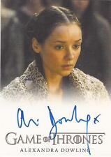 "Game of Thrones Season 4 - Alexandra Dowling ""Roslin Frey"" Autograph Card"