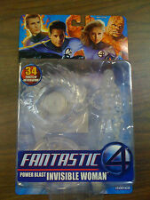 MARVEL Fantastic 4 Power Blast Invisible Woman Clear Figure NEW FREE SHIP US