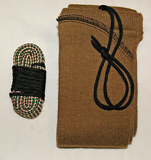 7.62X54R MOSIN NAGANT Bore brush swab mop rope snake cleaner gun sock case FDE