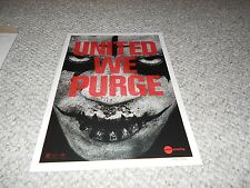 The Purge Anarchy Limited Edition AMC Exclusive Print 888 of 1000