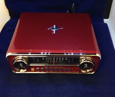 ION Mustang LP 4-in-1 Classic Car-Styled Vinyl Record Player Radio