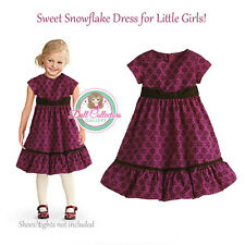 American Girl CL BITTY BABY SWEET SNOWFLAKE DRESS SIZE 6 for Girls Holiday NEW