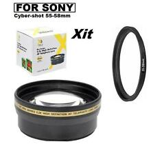 58mm 2.2x Telephoto Lens for Sony Cyber-Shot DSC-H400 DSC-HX400 DSC-HX300