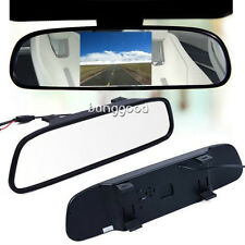 "Car Rear View 4.3"" TFT Color LCD Mirror Monitor F Reversing Rearview DVD Camera"