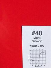 """Rosco R 40 Light Salmon Lighting Gel Sheet  20"""" x 24"""""""