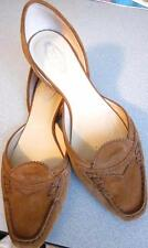 TODS Rust Brown Suede Pointed Toe D'Orsay Loafer Driver Flats Sz 38.5/8.5 Rt$485
