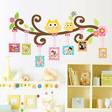 Cartoon Owl Mural Removable Wall Sticker Art Vinyl Decal Kids Nursery Room Decor