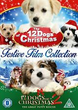 12 DOGS OF CHRISTMAS MOVIE DVD DOUBLE FILM PACK PART 1 AND 2 TWELVE New Sealed