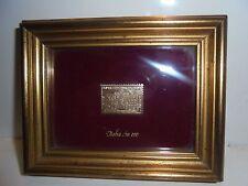"""RARISSIMO QUADRO CON FRANCOBOLLO SERIE """"Italia in oro""""-Picture stamp italy gold"""
