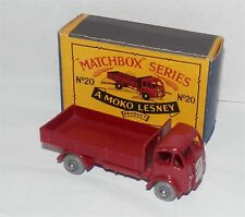 50s.moko.lesney.matchbox 20 Stake Truck.GREY PLASTIC.wheels.Mint in Box,Original