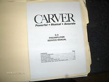 CARVER C-3 PREAMP SERVICE MANUAL FACTORY ORIGINAL ISSUE Excellent CONDITION