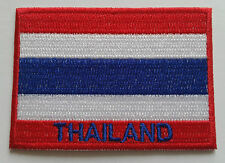 NATIONAL OLYMPIC COUNTRY FLAG (SMALL) SEW ON / IRON ON PATCH:- THAILAND