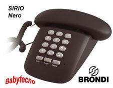 TELEFONO FILO SIRIO BRONDI NERO TRADIZIONALE TELECOM DESIGN VINTAGE Memoria Mute