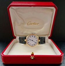 Cartier Vendome Gelb Gold 18K 750 TriColor 30mm Elegante Luxus Unisex Armbanduhr