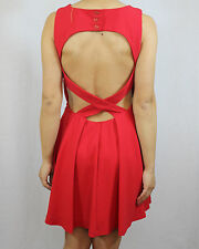 WAREHOUSE Spotlight red sexy cut out evening cocktail dress size 10 euro 38