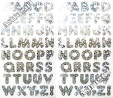 ~ Sparkle Silver Alphabet Uppercase ABC Letters Hambly Studio Glitter Stickers ~