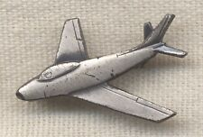 Early F-86 Sabre Jet Pilot Qualification Sterling Lapel Pin in Pin-Back