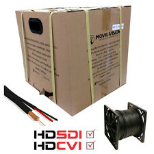 1000FT SIAMESE RG59 COAXIAL VIDEO + 18/2 POWER CABLE BLACK HD-CVI - HD-SDI READY