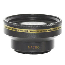 30mm 0.43x Wide Angle Lens + Macro for Sony Handycam DVD650,DCR-SR80,DCR-HC52,US