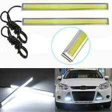 2x Super Bright White COB Car LED Light DRL Fog Driving Lamp Waterproof 12V 17CM
